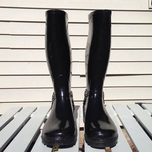 ALDO Shoes - Aldo Black Patent Leather Rain Boots