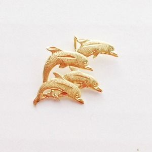 Jewelry - 14K Gold Dolphin Pendant