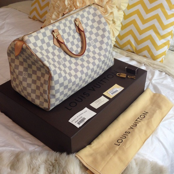 Louis Vuitton Speedy 35 Damier Azur