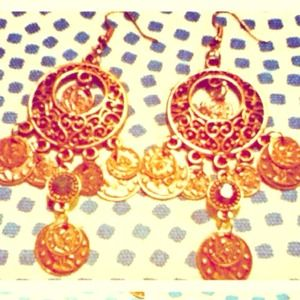 Bronze gypsy earrings.