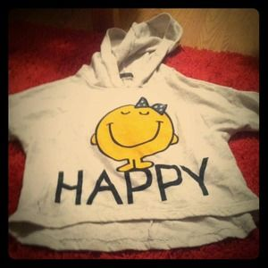Sweaters - Happy crop sweater(: