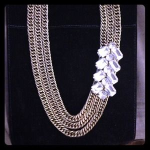 RESERVED: Bauble Bar chevron gold chain necklace