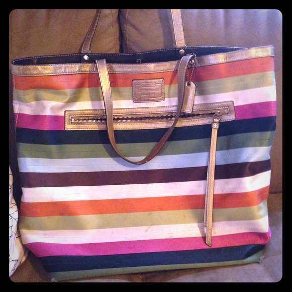 ddc87f4cc94b where to buy coach stripe tote 65e14 1f2b0