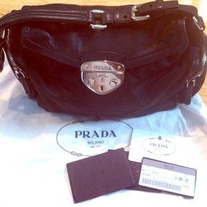 Authentic Prada Pattina shoulder bag