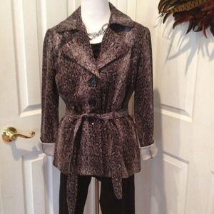 Jackets & Blazers - Black and gray snakeskin print jacket
