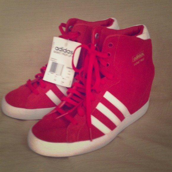 designer fashion f46b5 c033e Adidas PROFI UP womens red wedge shoes sz 7 NEW!