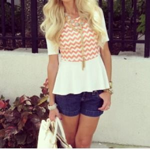 Chevron peplum top
