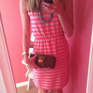 J. Crew Dresses - Jcrew pink striped dress