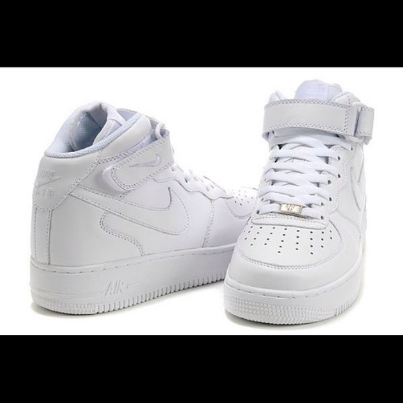high top white air force ones