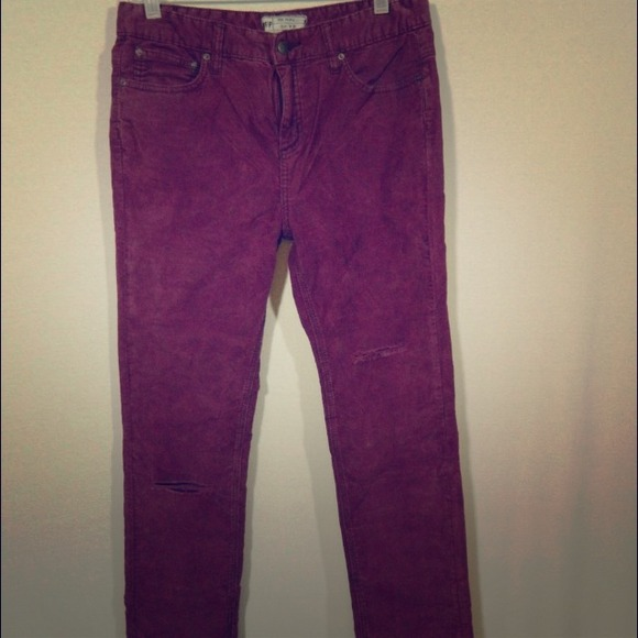 83% off Free People Pants - Free People NWOT Purple Corduroy Pants ...