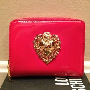 Love Moschino Handbags - Authentic Love Moschino Lipstick Red Vinyl Wallet