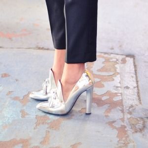 Alexander Wang Shoes - Alexander Wang Silver Tassel Heels (size 7.5)