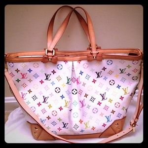 AUTH Louis Vuitton Multicolore Sharleen GM Bag