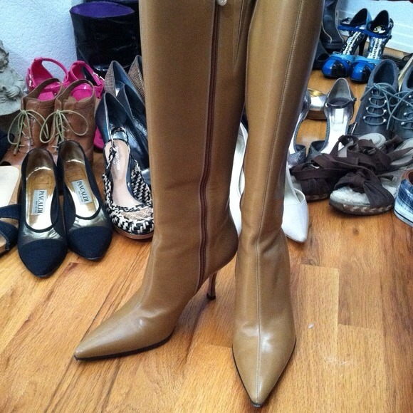Escada Leather Boots jfWOi3