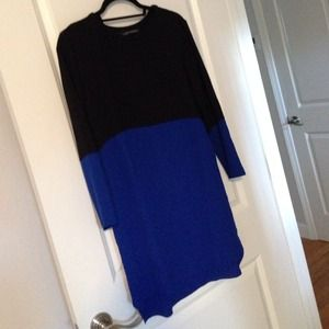 Zara Dress in Dark Navy and Blue (size S)