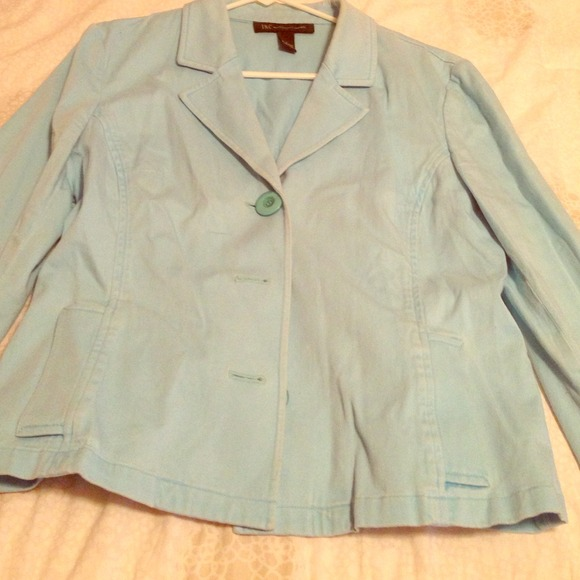 Lady lIght blue jacket Inc brand name L from Nelly's closet on ...