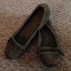BUNDLED Michael Kors olive suede ballet flats