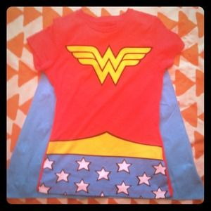 Wonder Woman Tee with Cape