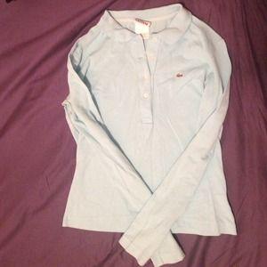 Lacoste Aqua Blue Long Sleeved Polo Shirt