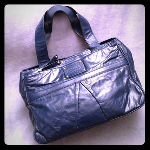 Marc Jacobs Palais Royal Jackie Blue Leather Tote