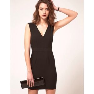 NEW ASOS Black Pencil Dress