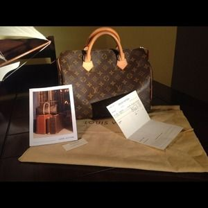 LouisVuitton Mono. Canvas Speedy 30 100% Authentic