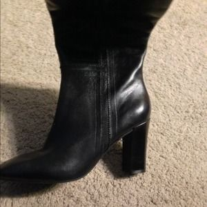 Brand new Rockport knee high black leather boots
