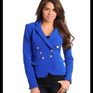 Royal BLUE ELEGANT BLAZER with front flap pockets