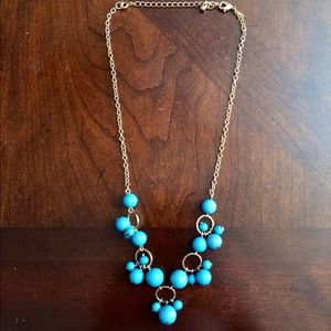Turquoise Colored Chandelier Necklace