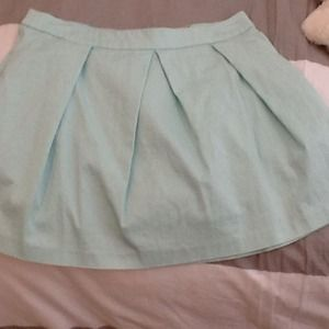 Asos A-line mint skirt