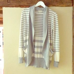 Urban outfitters stripe open cardigan