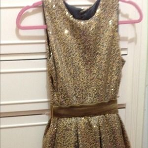 Gold sequence dress ( KIDS SIZE 16)