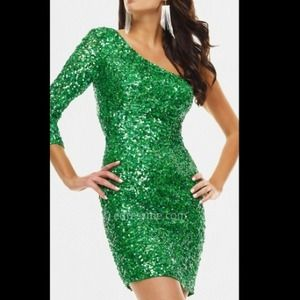 🎉HOST PIC🎉NWT Scala green sequence dress. Size 4