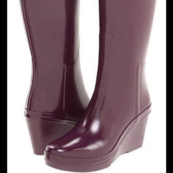 34 Off Hunter Boots Shoes Authentic Hunter Purple