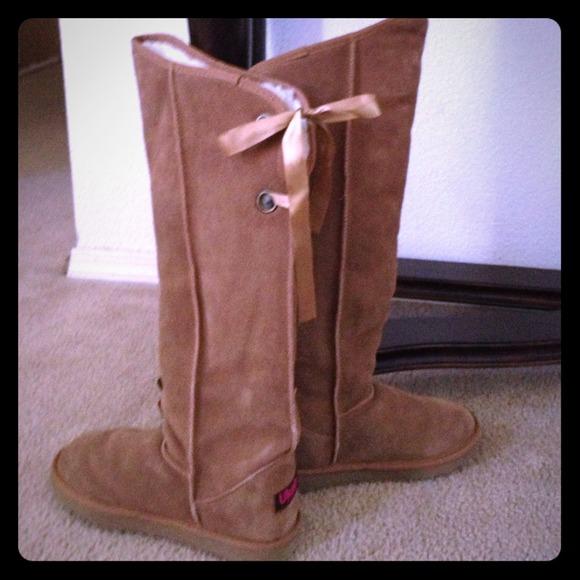 Ukala Shoes Emu Australia Suede Over The Knee Boots