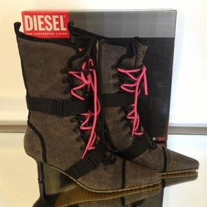 Brand new Diesel leather boots