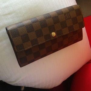 d8c3d01af1b Louis Vuitton Sarah wallet in Damier in Ebene