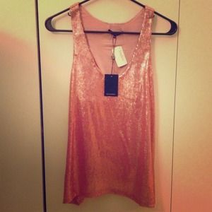 Flirty pink sequin sparkle top