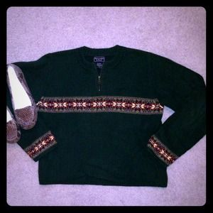 Abercrombie & Fitch Sweaters - Hunter Green Half Zip Sweater