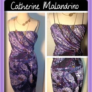 Catherine Malandrino Ruched Dress
