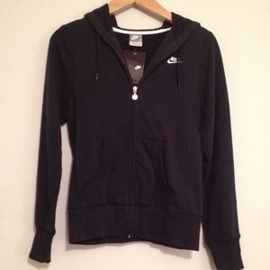 Nike Black Zip-Up Hoodie Jacket