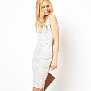 ASOS River Island Bodycon Embossed Pencil Dress
