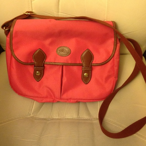 Latest Cheap Portable Longchamp LM Bags Orange