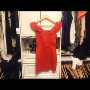 Asos red dress sz 6