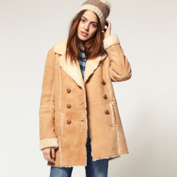 Genuine Shearling Coat - Coat Nj