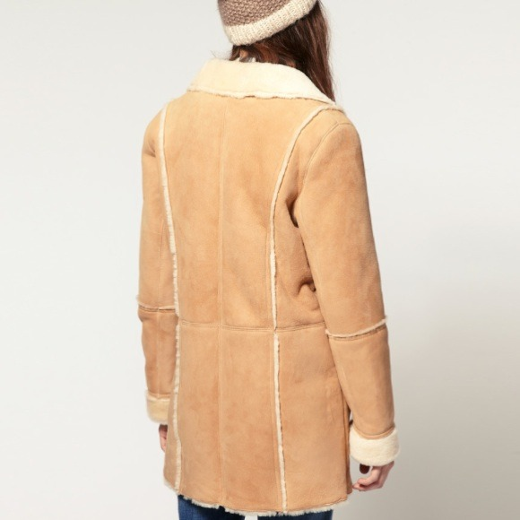 Collection Suede Shearling Coat Pictures - Reikian