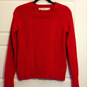 ⭐️Host Pick!⭐️Red Zara Knit Sweater