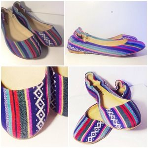 Mossimo Tribal Embroidered Flats