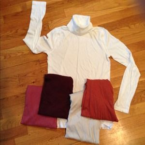 J. Crew Tops - Great basics! Five pieces.