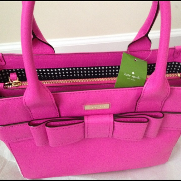 56 Off Kate Spade Handbags Kate Spade Pink Leather Bow